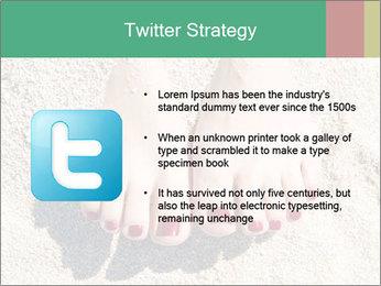 Female feet PowerPoint Template - Slide 9