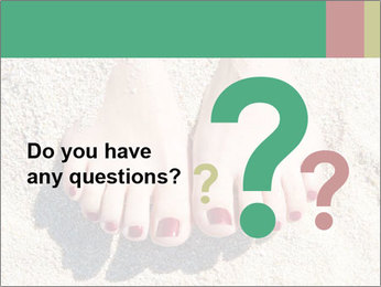 Female feet PowerPoint Template - Slide 96