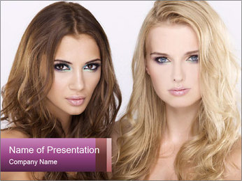 Girl friends PowerPoint Template - Slide 1