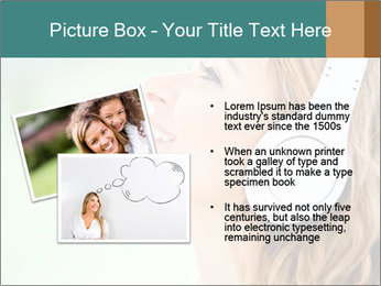 Woman with headphones PowerPoint Templates - Slide 20