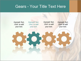 Woman with headphones PowerPoint Templates - Slide 48