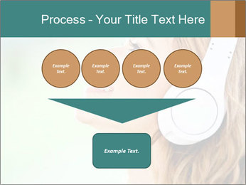 Woman with headphones PowerPoint Templates - Slide 93