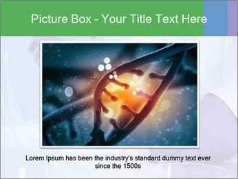 Scientist using pipette in laboratory PowerPoint Template - Slide 16
