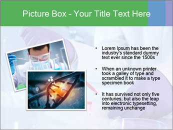 Scientist using pipette in laboratory PowerPoint Template - Slide 20
