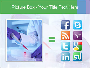 Scientist using pipette in laboratory PowerPoint Template - Slide 21