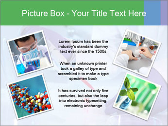 Scientist using pipette in laboratory PowerPoint Template - Slide 24