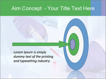 Scientist using pipette in laboratory PowerPoint Template - Slide 83