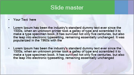Scientist using pipette in laboratory PowerPoint Template - Slide 2