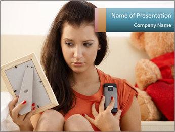 Teenage girl PowerPoint Templates - Slide 1