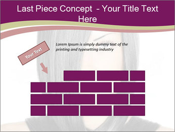 Beautiful young woman PowerPoint Templates - Slide 46