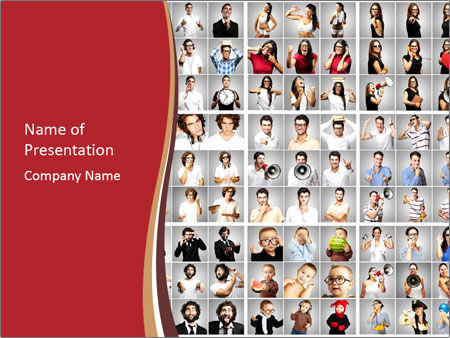 Composition of young people PowerPoint Templates