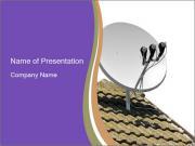 Satellite dish PowerPoint Template