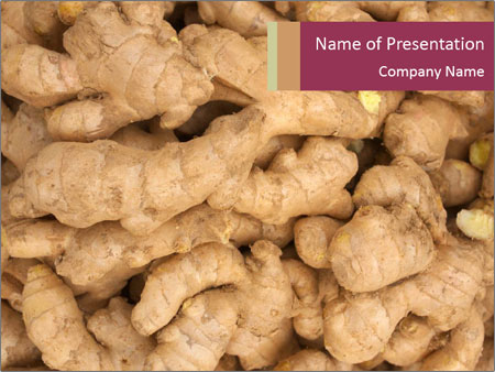 Heap of ginger root PowerPoint Templates