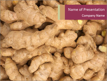 Heap of ginger root PowerPoint Template - Slide 1