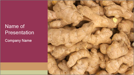 Heap of ginger root PowerPoint Template