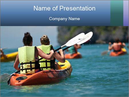 Sea kayak PowerPoint Templates