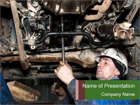 Mechanic working PowerPoint Templates