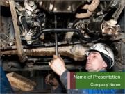 Mechanic working PowerPoint Templates