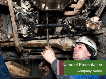 Mechanic working PowerPoint Templates - Slide 1