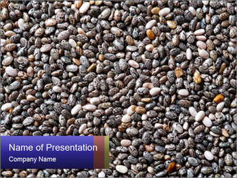 Chia seeds PowerPoint Template - Slide 1