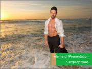 Man on the sea PowerPoint Template