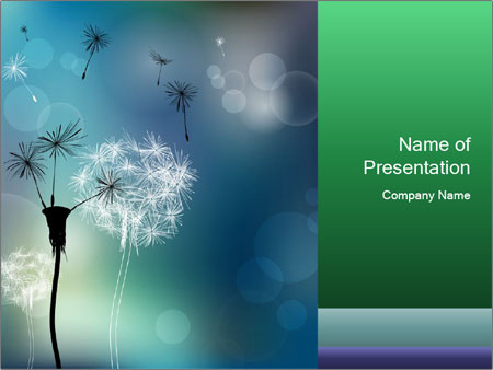 Abstract faded PowerPoint Templates