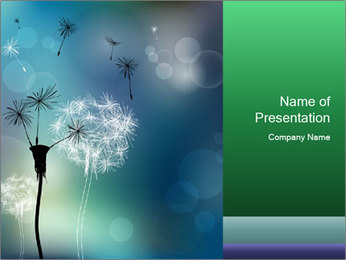 Abstract faded PowerPoint Templates - Slide 1