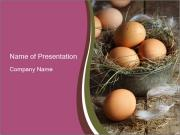 Fresh brown eggs PowerPoint Templates
