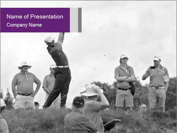 Golf Open in Sydney PowerPoint Template - Slide 1