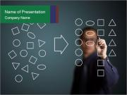 Businessman drawing PowerPoint Templates