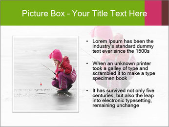 Little child fishing PowerPoint Template - Slide 13