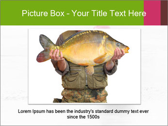 Little child fishing PowerPoint Template - Slide 16