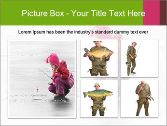 Little child fishing PowerPoint Template - Slide 19