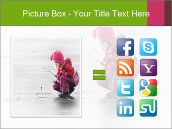 Little child fishing PowerPoint Template - Slide 21