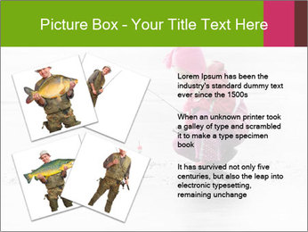 Little child fishing PowerPoint Template - Slide 23