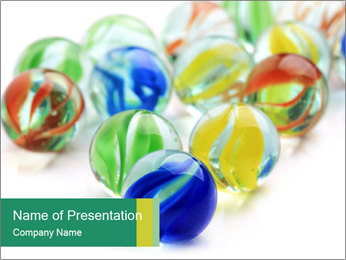Colourful toy PowerPoint Template - Slide 1