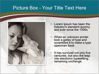 Woman  a severe depression PowerPoint Template - Slide 13