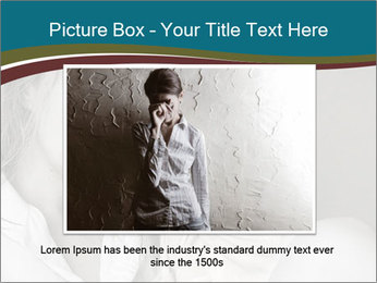 Woman  a severe depression PowerPoint Template - Slide 16