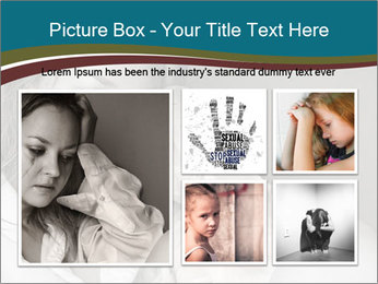 Woman  a severe depression PowerPoint Template - Slide 19
