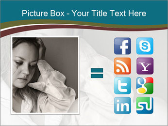 Woman  a severe depression PowerPoint Template - Slide 21