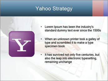 Business lady typing on laptop at office PowerPoint Template - Slide 11