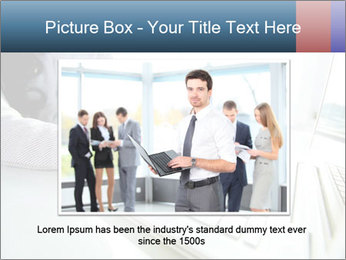 Business lady typing on laptop at office PowerPoint Template - Slide 16