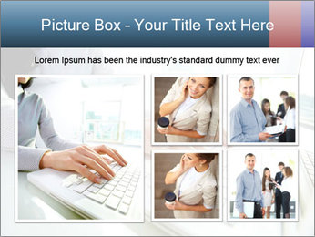 Business lady typing on laptop at office PowerPoint Template - Slide 19