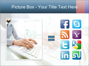 Business lady typing on laptop at office PowerPoint Template - Slide 21