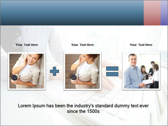 Business lady typing on laptop at office PowerPoint Template - Slide 22