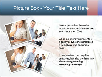 Business lady typing on laptop at office PowerPoint Template - Slide 23