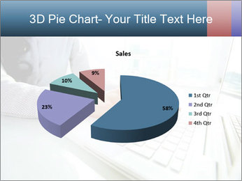 Business lady typing on laptop at office PowerPoint Template - Slide 35