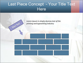 Business lady typing on laptop at office PowerPoint Template - Slide 46