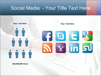 Business lady typing on laptop at office PowerPoint Template - Slide 5