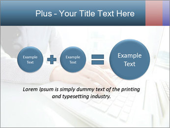 Business lady typing on laptop at office PowerPoint Template - Slide 75